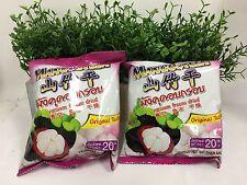 0% Fat  Thai Vacuum Freeze Dried Fruit Mangosteen Chips (20g x 5 packs)