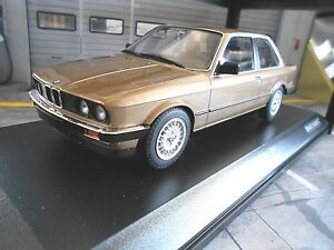 BMW-3er-3-Il-Series-323i-e30-Limousine-Marron-Brow-1982-Minichamps-1-18-Miniature