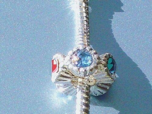 Deluxe Luxus KRISTALL Bead Anhänger SILBER Armband EUROPEAN Beadarmband Kette