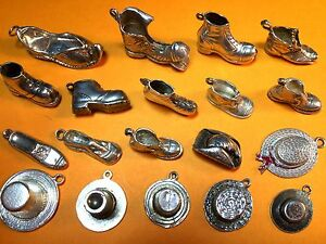 Sensible Vintage Sterling Silver Charms, Men's Shoes And Hats GuéRir La Toux Et Faciliter L'Expectoration Et Soulager L'Enrouement