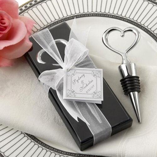 Weinverschluss Gastgeschenk Korken Hochzeit Weinstopper Herz inc Verpackung