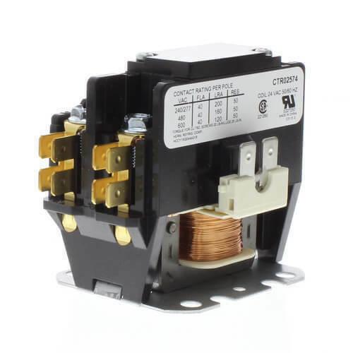 American Standard Trane 24 Volt 1 Pole 40 Amp Contactor Relay CTR1034 CTR01034
