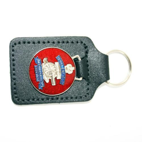 GS45023 Royal Enfield Silver Red Gold. KEY FOB