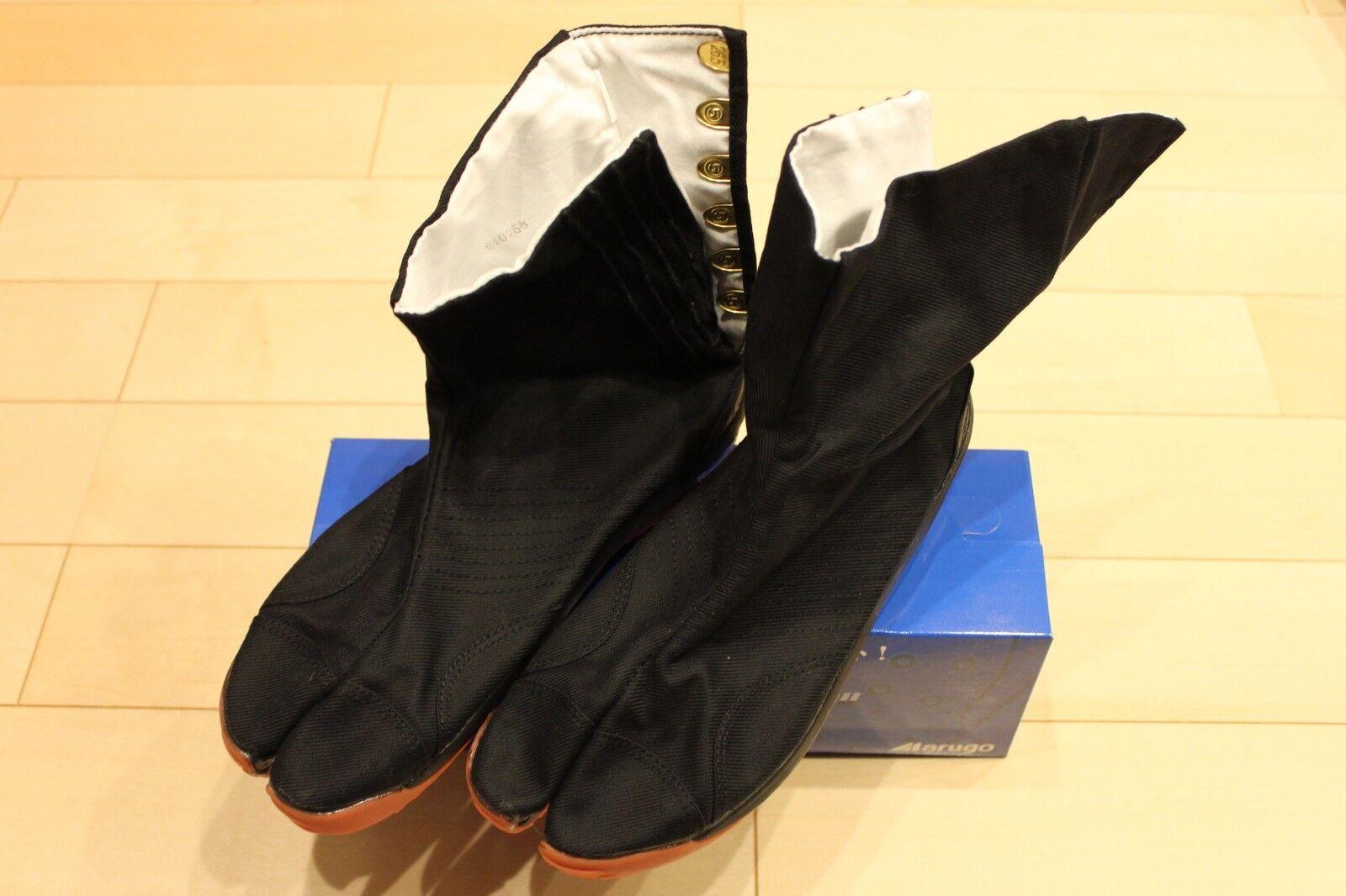 Tabi zapatos corto Marugo AIR JOG Cojín Ninja botas Matsuri Air 051 Negro F S Air