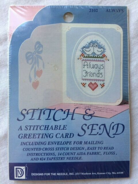 Design /& Envelopes Inc Cross Stitch Greeting Cards Kit NIP Lot of 6