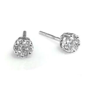 ba8692f435ebd Details about Diamond Stud Earrings 0.50ct F VS Round Brilliant Cut in 18ct  White Gold