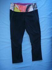 Lululemon Wunder Under Crop Pants Sz 4 Multi Unicorn Tears Coal Legging HTF Rare