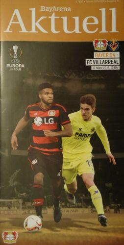 FC Villarreal Programm UEFA EL 2015//16 Bayer Leverkusen