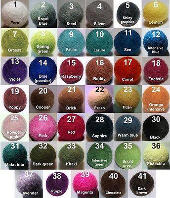 FELT BALLS 2cm x 250 pieces ->MIX or CHOOSE YOUR COLORS