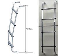 Caravan Motorhome Aluminium Reach steps chrome vans universal rear roof Ladder
