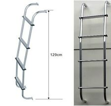 Caravan Motorhome Aluminium Reach steps chrome vans universal rear roof Ladder