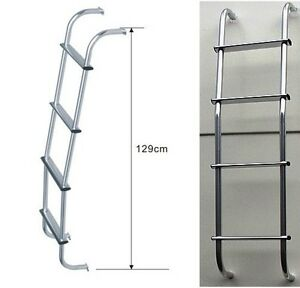 Image is loading 4x4-Land-Rover-Aluminium-Rear-Door-Steps-Rear-  sc 1 st  eBay & 4x4 Land Rover Aluminium Rear Door Steps Rear Ladder Roof Rack ...
