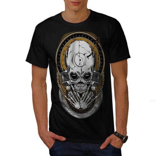 Graphic Design Printed Tee Wellcoda Death Rock Music Skull Mens T-shirt