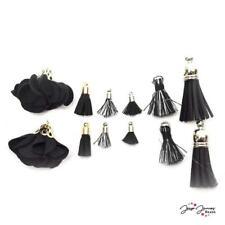 Dress It Up  Black White 3 Tier Tassels 9970 Jesse James Buttons Sew Craft