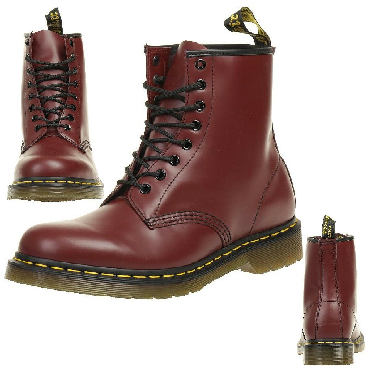 Dr. Martens 1460 Cherry rouge Smooth bottes bottes rouge