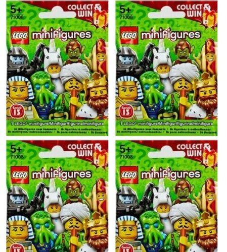 LEGO Minifigures Série 13 Bundle 4X Neuf Scellé Aveugles Sacs Emballages