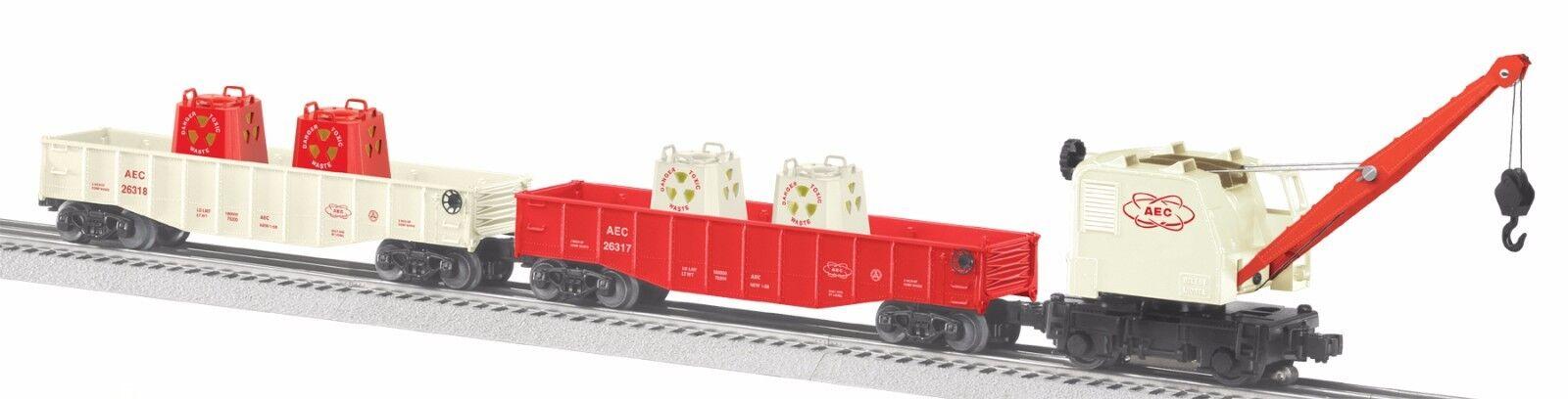 2010 discontinued Lionel 6-31774 AEC Radioactive Transport Burro Crane Set new