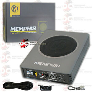 "BRAND NEW MEMPHIS 8"" UNDER SEAT PRELOADED ENCLOSED SUBWOOFER WITH AMPLIFIER"