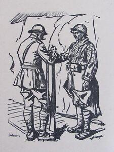 03e6 dessin croquis de guerre 14 18 poilu revue d 39 officier - Dessin de poilu ...