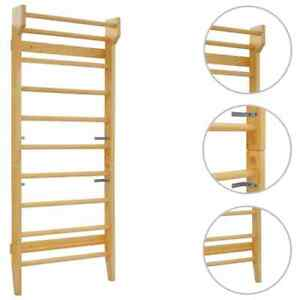 vidaXL-Wall-Bar-80x15-8x195cm-Wood-Gymnastic-Climbing-Rack-Indoor-Sport-Ladder