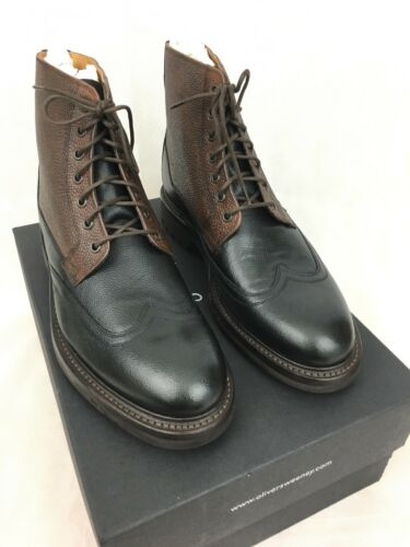 brown Ankle us12 Rrp £269 Black Danby Leather Sweeney eu45 Boots Uk11 Oliver YUqaFwW