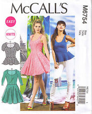 009d474e709 McCall Pattern Company M6754 Misses  Tops and Dresses Sewing Template Size  ...