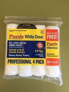 à Condition De Purdy White Dove Professional Paint Roller Cover 3/8nap 9in 4pk Sans Retour