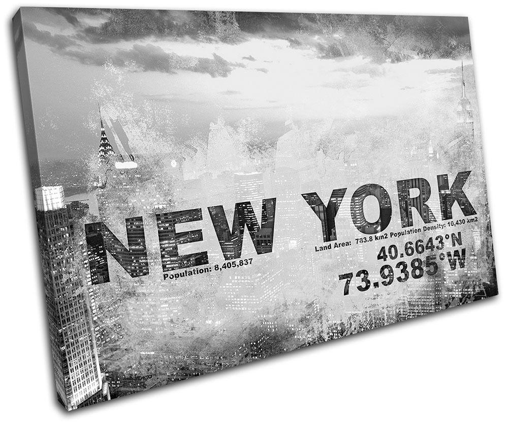 New York NYC Typography USA City Typography NYC SINGLE LONA pa rojo  arte Foto impresion 035749