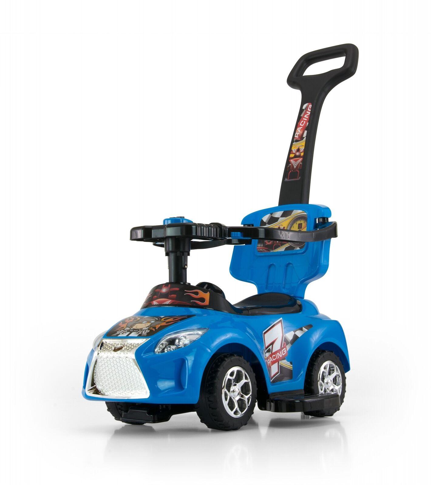 3 in 1 Rutschauto Rutscher Kinderauto abnehmbarer Schubstange Schubstange abnehmbarer aufklappbarer Sitz 110660