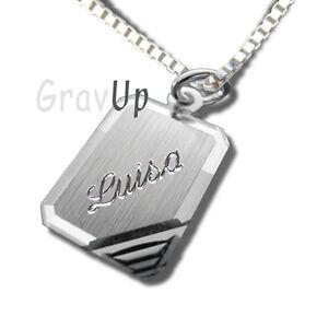 Anhänger Für Kinder Mit Kette Und Gravur Silber 925 A826