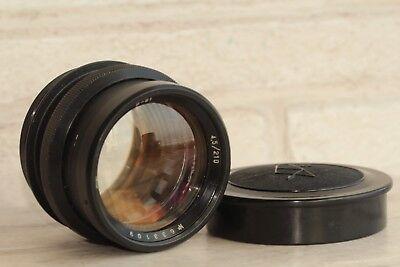 Industar-51 210 mm F4.5 Soviet lens Large Format 13x18 camera FKD servced