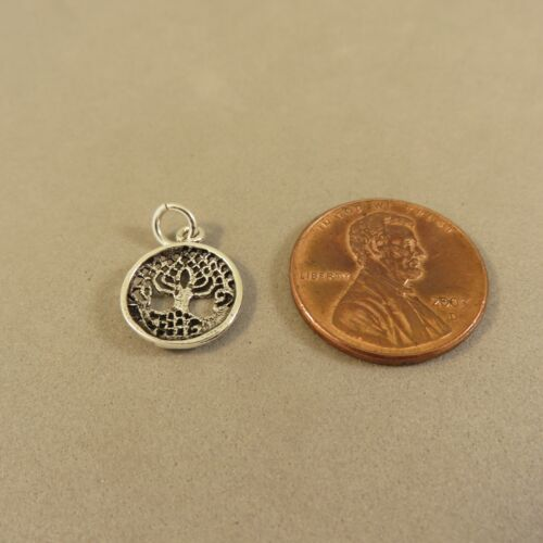 .925 Sterling Silver Small CELTIC KNOT TREE of Life CHARM NEW Pendant 925 GA61