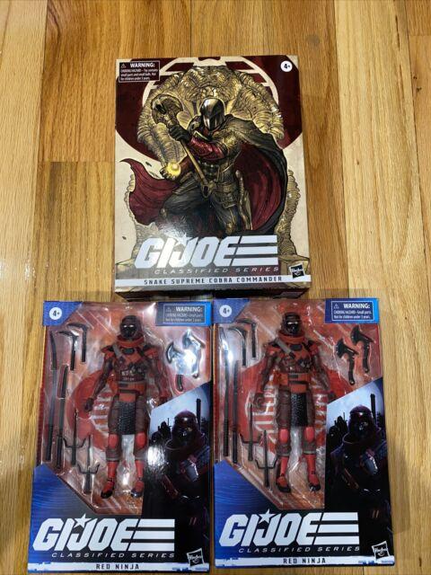 "GI Joe Classified Series 6"" Cobra Commander Pulse Exclusive W/ 2 Red Ninjas NIB"