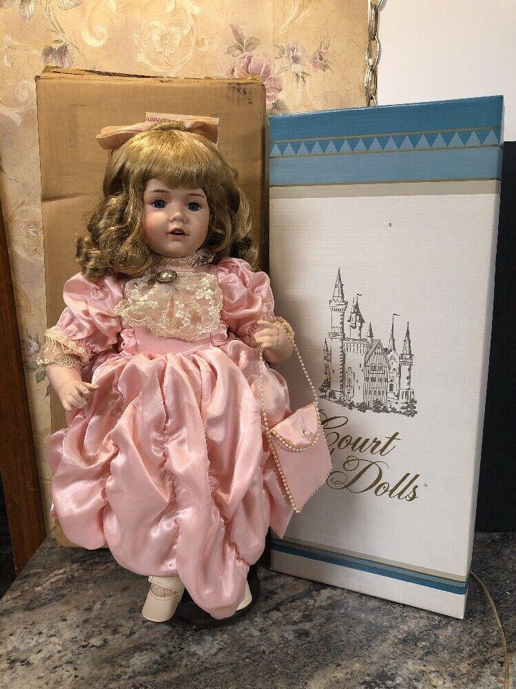 "Court Of Dolls Miss Hilda 18"" Porcelain Victorian Doll"