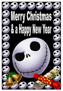 Nightmare Before Christmas Jack Merry Christmas Happy New Year