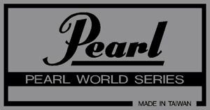 """Ordonné Vintage Pearl 'world Series """"type, Principalement Argent Vinyle Shell Badges. Deux Copies.-afficher Le Titre D'origine Longue DuréE De Vie"""