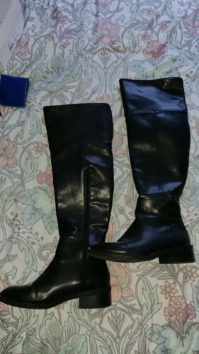 Zara Thigh Boots The 4 Knee High Flat Leather Over 6T7rqUwF6