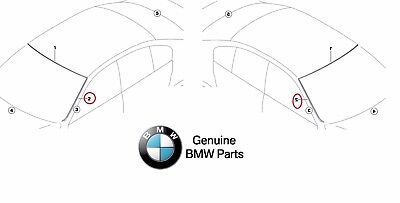 For BMW F30 F31 3 Series Front Driver Left Windshield Moulding OES 51317258187