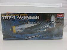 Academy TBF-1 AVENGER Navy Bomber 1/72 Scale Plastic Model Kit UNBUILT 1999