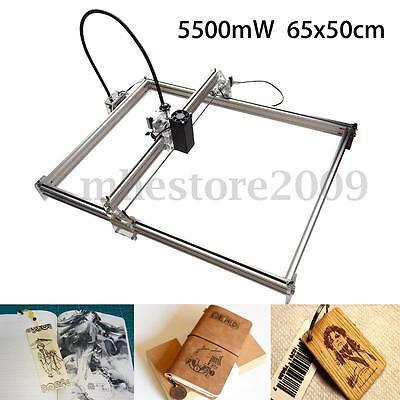 5500MW 5.5W Desktop Laser Engraver Engraving Machine DIY Cutter Printer 50X65cm