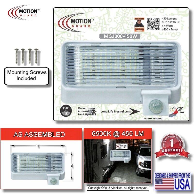 LED RV Motion Sensor  Exterior Porch Utility Light - White 12vdc Lighting Fixture  quality assurance
