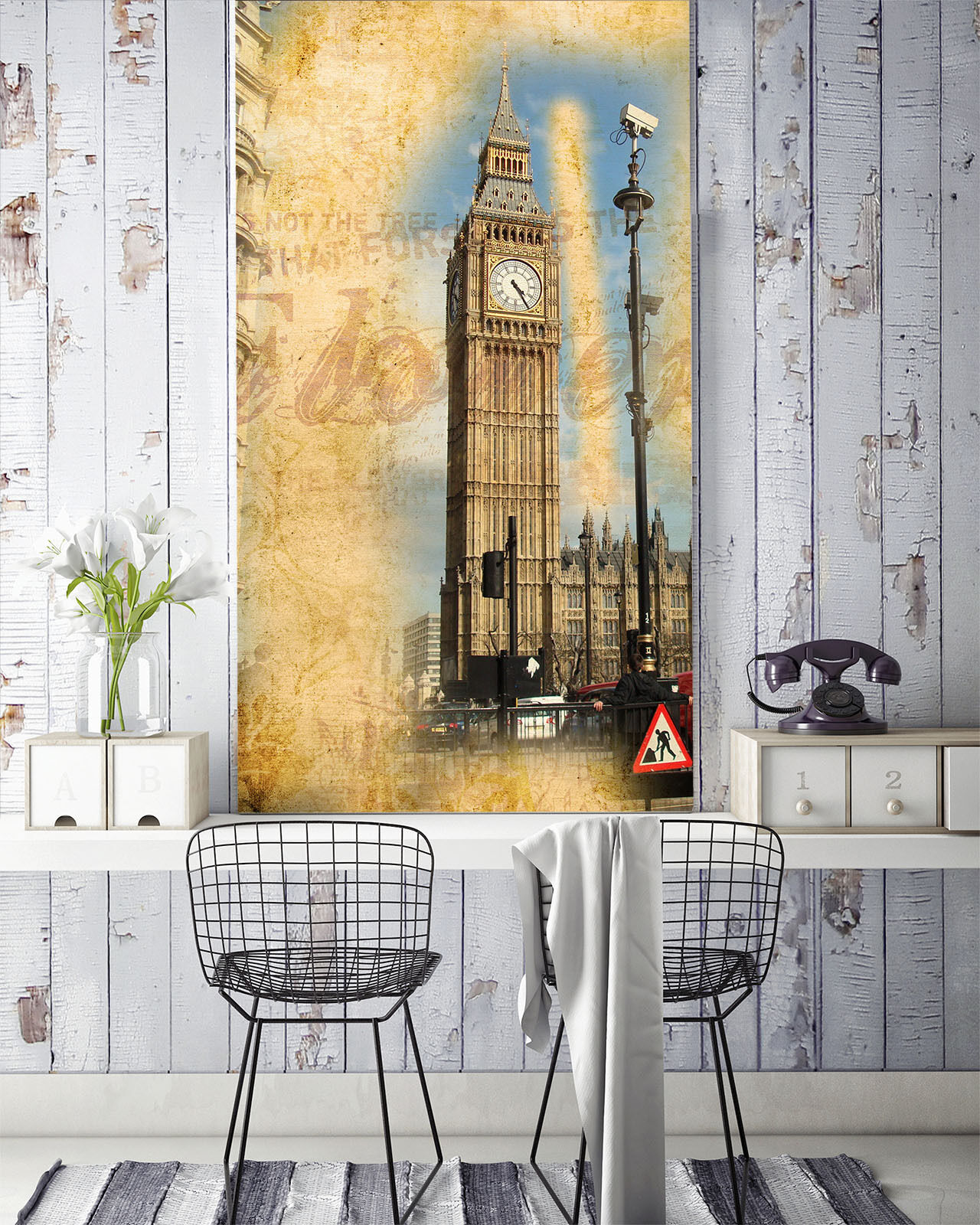 3D Mega Modern London Big Ben 03 Wall Paper Wall Print Decal Wall AJ Wall Paper