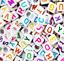 miniatuur 10 - 200 Alphabet Letter Mixed Colour Beads Gems Kids Girls DIY Jewellery Xmas Gift