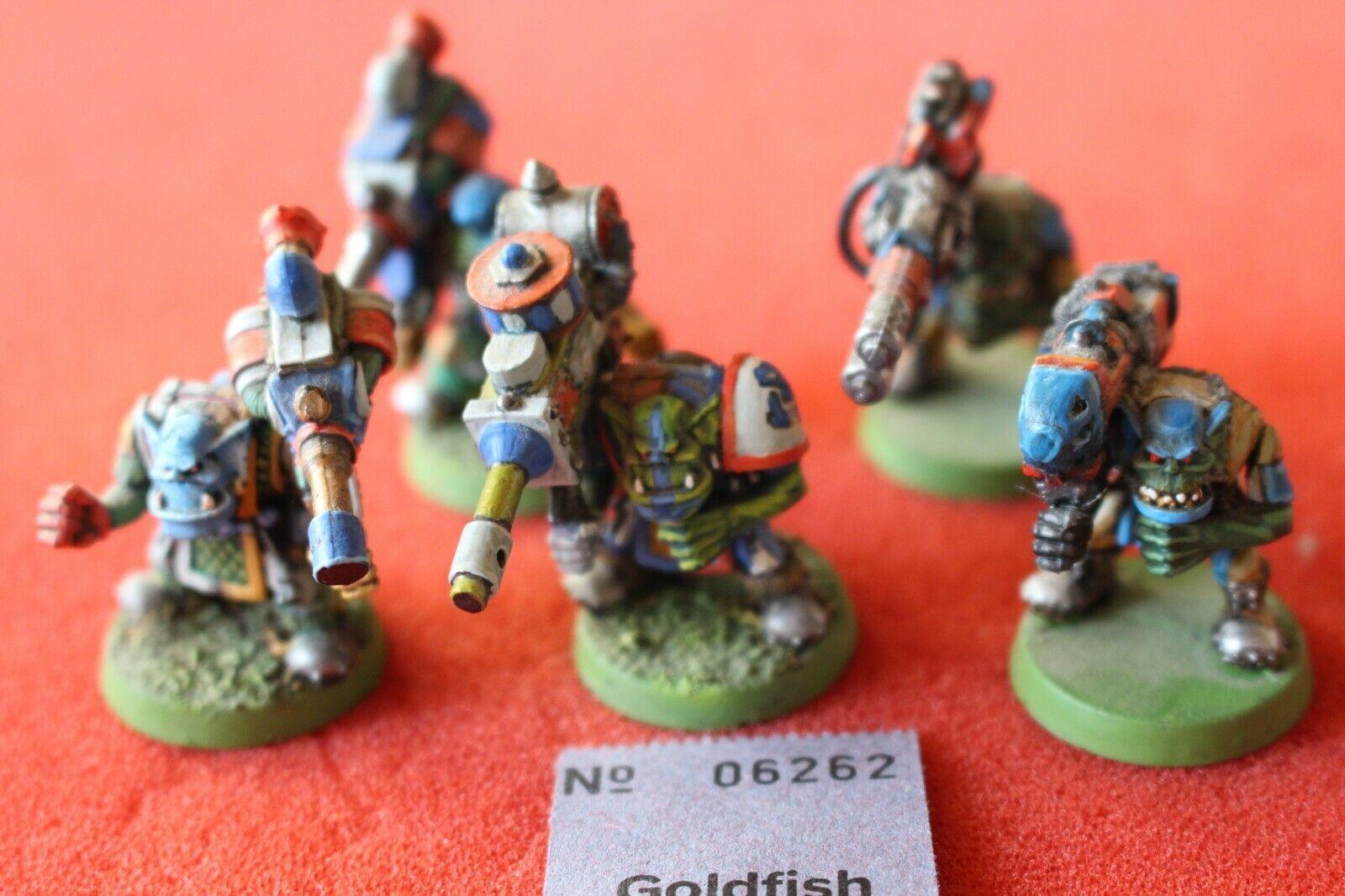 Spel Workshop Warhammer 40k Orks Blood Axe Lootas Heavy Guns Boy Målad