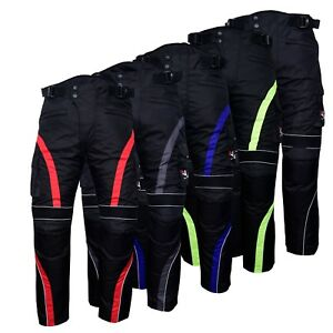 Motorbike-Motorcycle-Waterproof-Cordura-Textile-Trousers-Pants-Armours-5-Colours