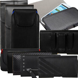 Black-Leather-Pouch-Case-Holster-Loop-Belt-Clip-for-iPhone-8-7-6S-6-Galaxy-J1-J3