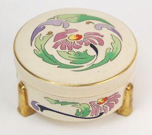 1910 art nouveau American Satsuma peint main EMAILLE dresser Jar Ludwich-afficher le titre d`origine 3N8IzXnj-09092444-141253118