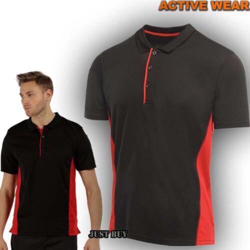 Regatta Mens Polo T Shirt Outdoor Hiking Camping Sport Gym Outdoor Work Salt
