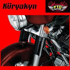 Kuryakyn Black Upper Fork Slider Covers Harley Davidson Touring 7211