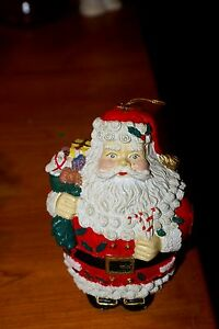 Vintage-Resin-Hand-Painted-Santa-Claus-Christmas-Ornament-6-H-X-5-W